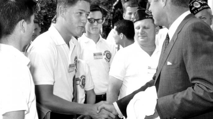 Bill Clinton and John F. Kennedy