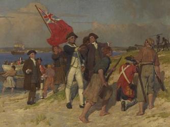 Cook landing at Botany Bay.