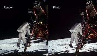 Lighting Simulation Offers More Proof of Moon Landing