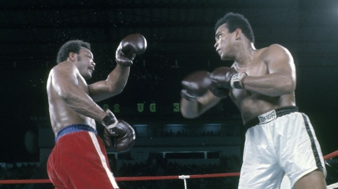 hith rumble jungle Muhammad Ali v George Forman