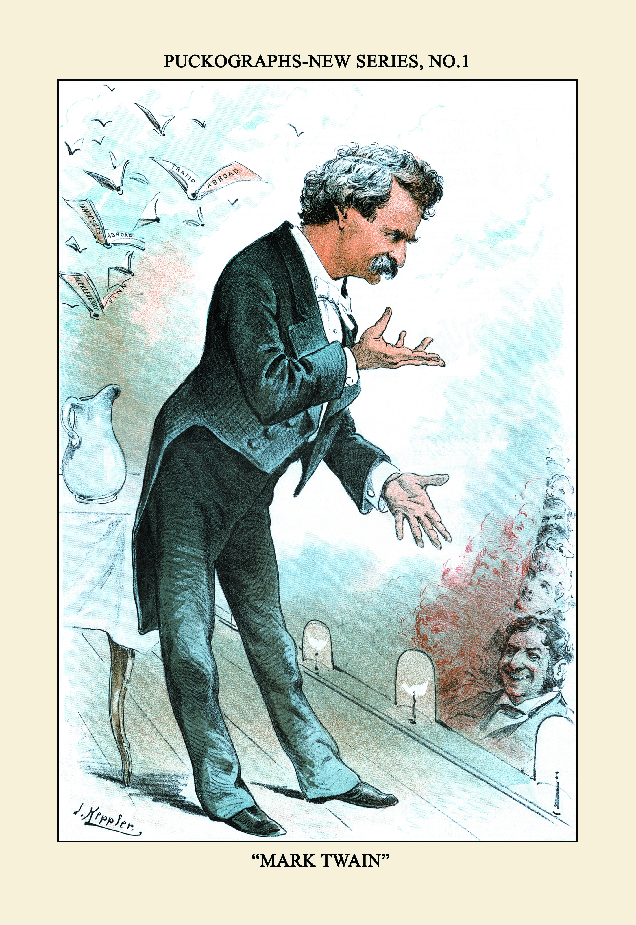 list things mark twain lectures jpg cartoon depicting twain on the lecture circuit credit transcendental graphics getty images