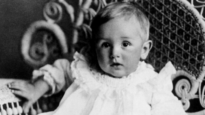 Walt Disney at the age of 1, in 1902. (Credit: Apic/Getty Images)