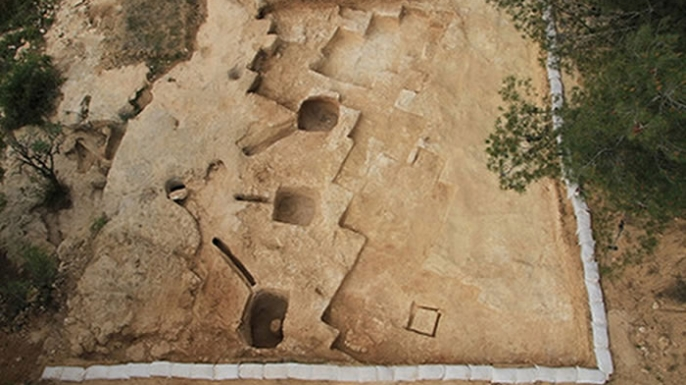 Newly discovered ritual bath, or mikveh, Israel