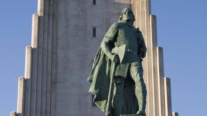 Leif Eriksson statue in Reykjavik, Iceland (