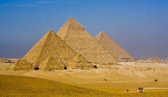 How long did it take to build the Great Pyramid?