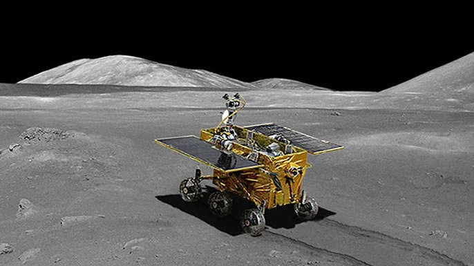Chinese rendering of Chang'e 3 lunar module and rover.