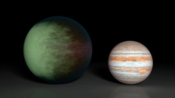 Kepler-7b, space, cloud map