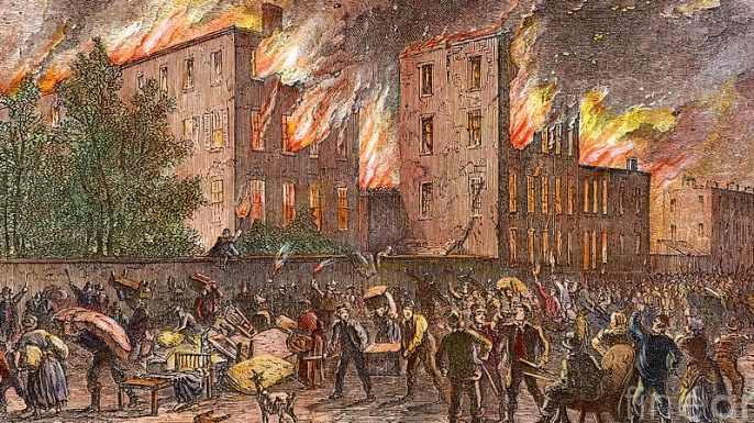 Image result for riot against civil war draft in new york