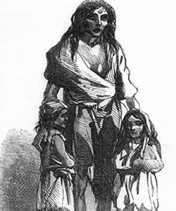 Depiction of the Irish famine