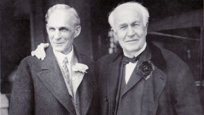 Henry Ford With Thomas Edison Defining The Future Of Us