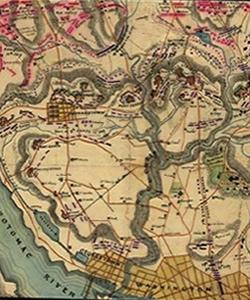 Map of the Battle of Fort Stevens