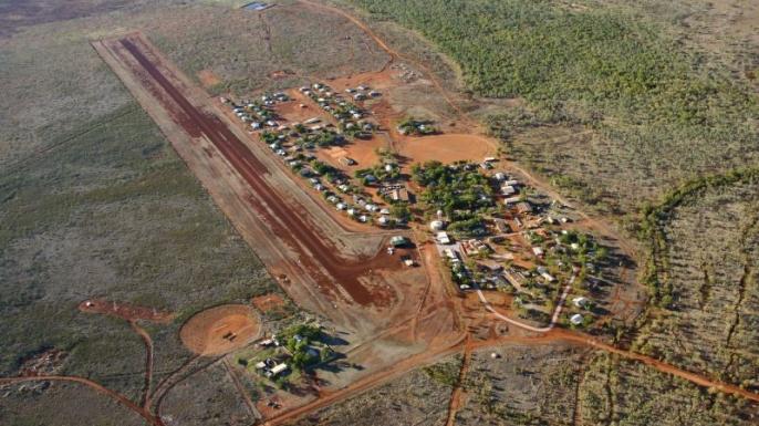 Aerial view of Lajamanu