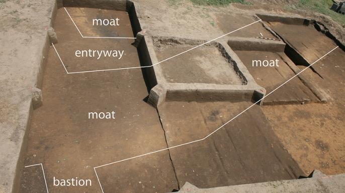 Layout of Fort San Juan excavation site.