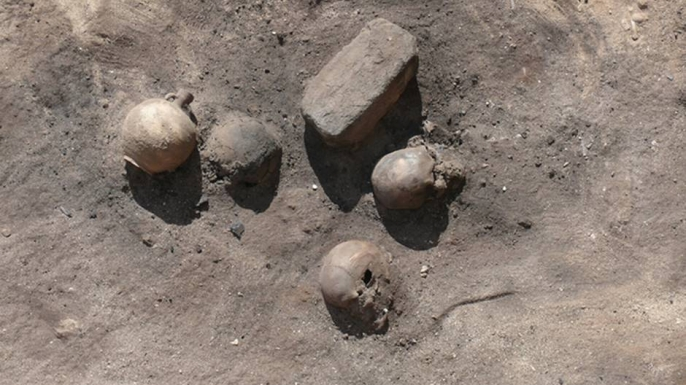 Remains of victims of the Plague of Cyprian, discovered in the funeral complex of Harwa and Akhimenru