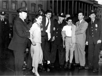 Lolita Lebron, Rafael Miranda and Andres Cordero being taken into custody following the attack.