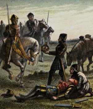 The death or Richard III at the Battle of Bosworth Field. (Credit: Hulton Archive/Getty Images)