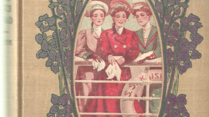 """Cover of """"Aunt Jane's Nieces Abroad,"""" one of a series of book's Baum wrote under the pen name Edith Van Dyne."""