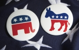 Republican and Democratic parties animal symbols