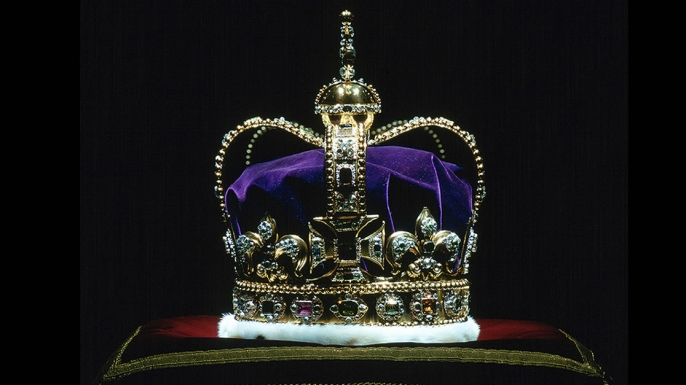 St. Edward's Crown, the Coronation Crown Of England. (Credit: Tim Graham/Getty Images)
