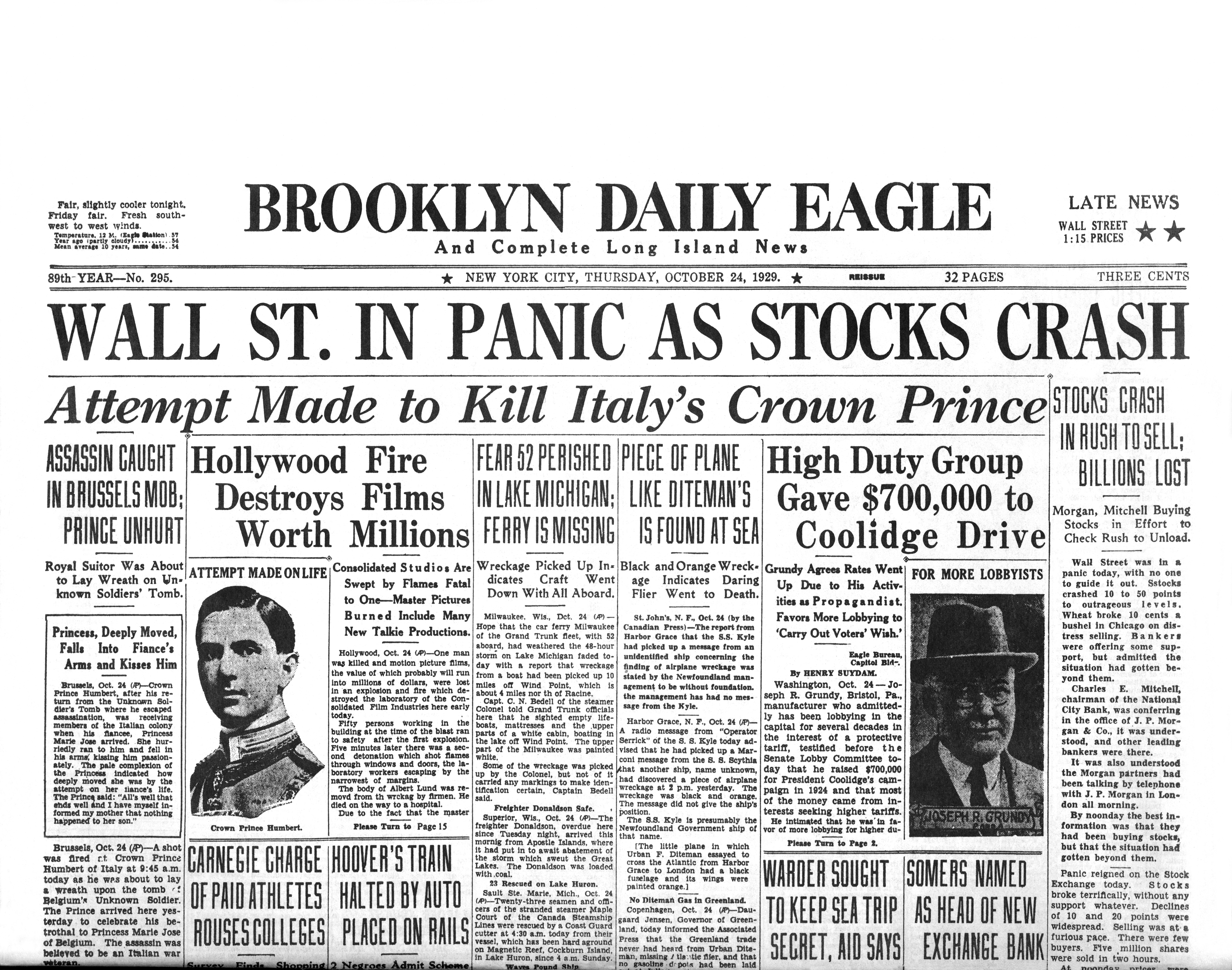 wall street crash Black tuesday, october 29, 1929, was the day an era came to an end the 1920s had been a magical time in the history of the us-- a time of jazz, flappers, and.