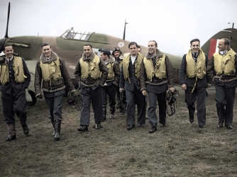Polish pilots from the 303 squadron.