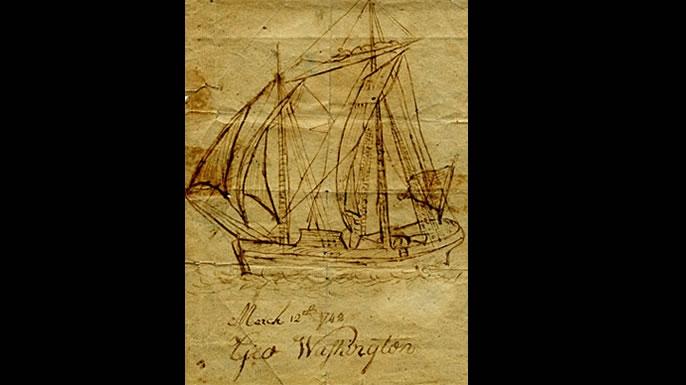 george washington drawing