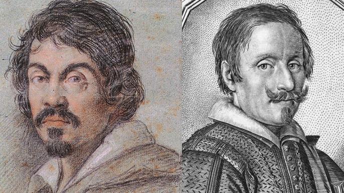 Michelangelo Caravaggio and Giovanni Baglione