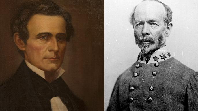Jefferson Davis and Joseph E. Johnston