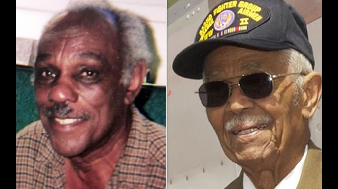 "Joseph Shambrey and Clarence ""Buddy"" Huntley Jr. (Credit: AP Photo/Tim Shambray/ Bruce Talamon)"