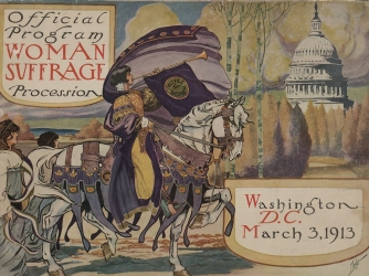 Program for the 1913 suffrage march in Washington, D.C.