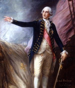 British Admiral Sir George Rodney described the devastation of the Great Hurricane.