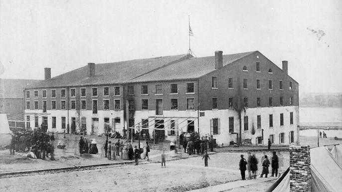 Libby Prison in April 1865. (Credit: Alexander Gardner)
