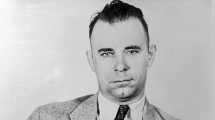 Portrait of American criminal gang leader and bank robber John Dillinger.  (Credit: American Stock/Getty Images)