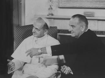 vatican, pope paul vi, lyndon johnson