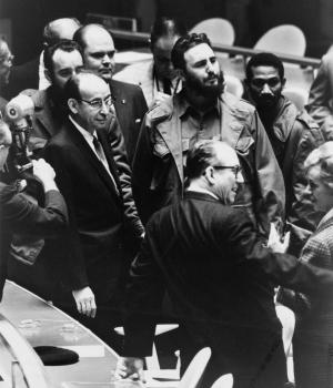 Castro during his marathon U.N. speech.