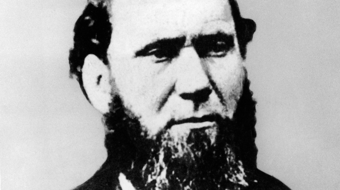 Portrait of Scottish-born American private detective Allan Pinkerton (1819 - 1884) who founded the world's first and most famous private security service, the Pinkerton Agency which exists to this day, late 19th Century. (Photo by Pictorial Parade/Getty Images)