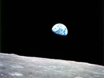 Photograph of the Earth taken by astronaut William Anders during the Apollo 8 mission, in 1968. (Credit: NASA)