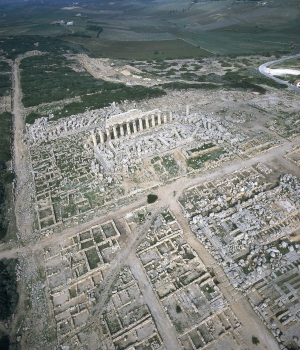 Aerial view of the archaeological site at Selinunte.  (Credit: Folco Quilici/Folco Quilici © Fratelli Alinari/Alinari Archives/Alinari via Getty Images)