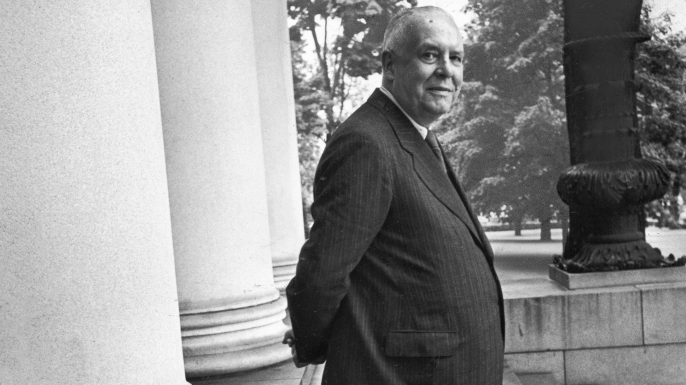 Poet and Vice President of Hartford Accident and Indemnity Co., Wallace Stevens.  (Credit: Walter Sanders/Getty Images)