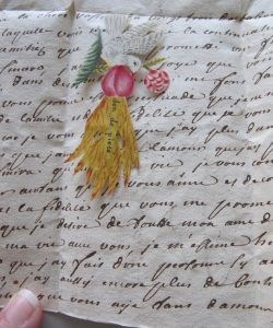 Before the invention of the modern gummed envelope, sometimes these hand-written letters acted as an envelope to contain inserted objects. (©Signed, Sealed & Undelivered Team, 2015. Courtesy of the Museum voor Communicatie, The Hague.)