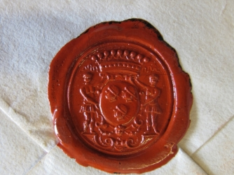 One of the seals on a letter.  (©Signed, Sealed & Undelivered Team, 2015. Courtesy of the Museum voor Communicatie, The Hague)