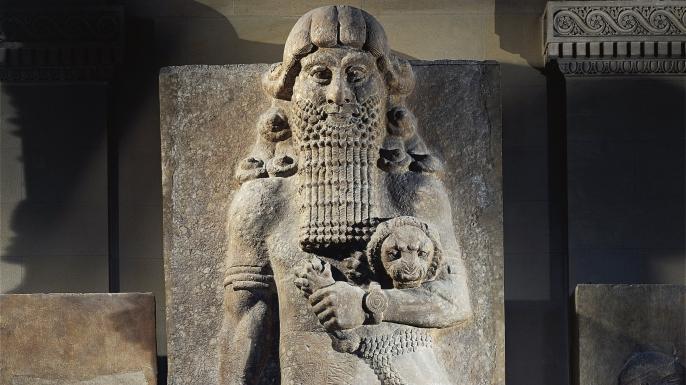 Chalky alabaster statue of Gilgamesh, king of Uruk. (Credit: DEA/Getty Images)