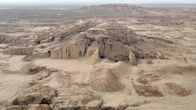 A picture shows the archaeological site of Uruk (Warka). (Credit: ESSAM AL-SUDANI/AFP/Getty Images)