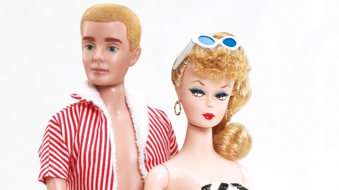 Barbie and Ken in the 1960s. (Credit: Mattel)