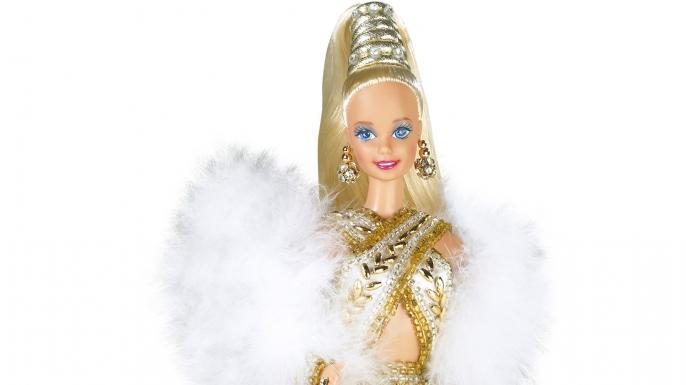 The Bob Mackie Gold Barbie, 1990. (Credit: Mattel)