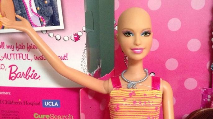 "Barbie's friend Ella, known as ""Chemo Barbie."" (Credit: Ella Chemotherapy Barbie/https://www.facebook.com/EllaChemotherapyBarbie)"