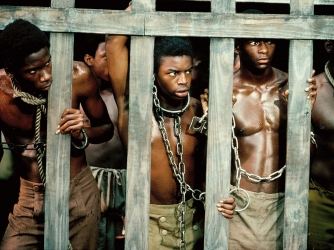 "Kunta Kinte (LeVar Burton, center) in ""Roots.""  (Credit: ABC Photo Archives/Getty Images)"