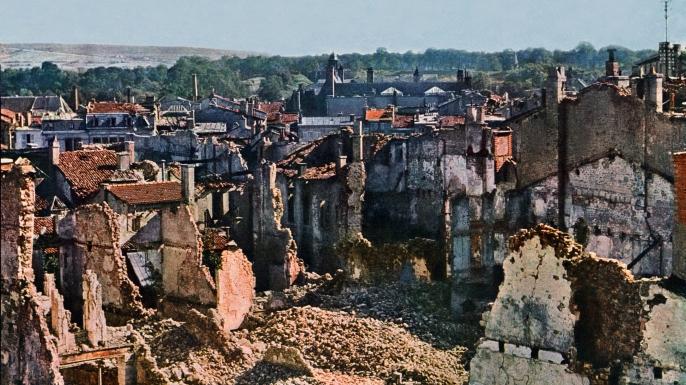 View of Verdun after 8 months of bombing. (Credit: Galerie Bilderwelt/Getty Images)
