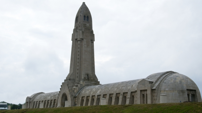 Douaumont Ossuary. (Credit: Dennis K. Johnson/Getty Images)