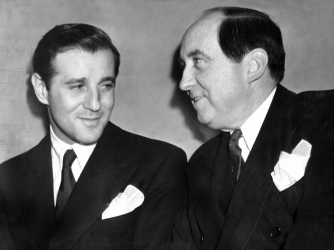 Benjamin (Bugsy) Siegel with his attorney Jerry Giesler. (Credit: NY Daily News Archive via Getty Images)